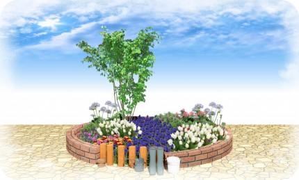 ムスカリ 花壇