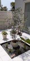 中庭植栽工事