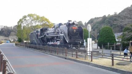 千波湖のSL機関車