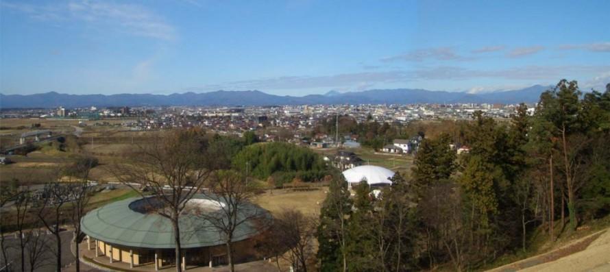 主の祀られている古墳から見る郡山市