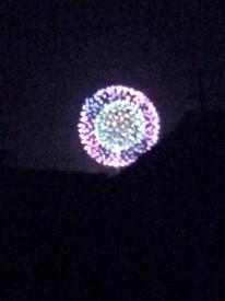 釈迦堂川の花火1