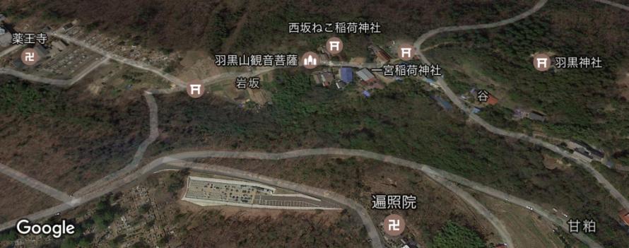 信夫山地図