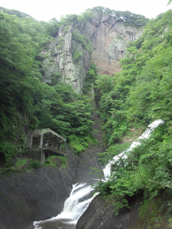 袋田の滝 つり橋からの景色