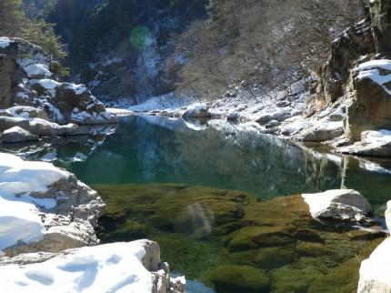 龍王峡 流紋岩