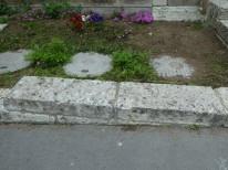大谷石花壇