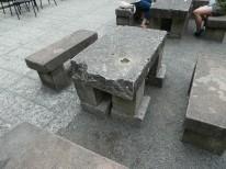 大谷石テーブル
