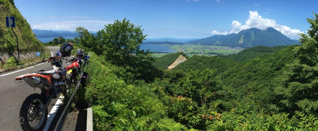 磐梯山と猪苗代